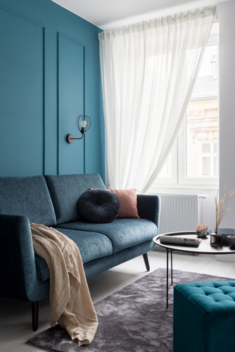 Scotland windows with sofa